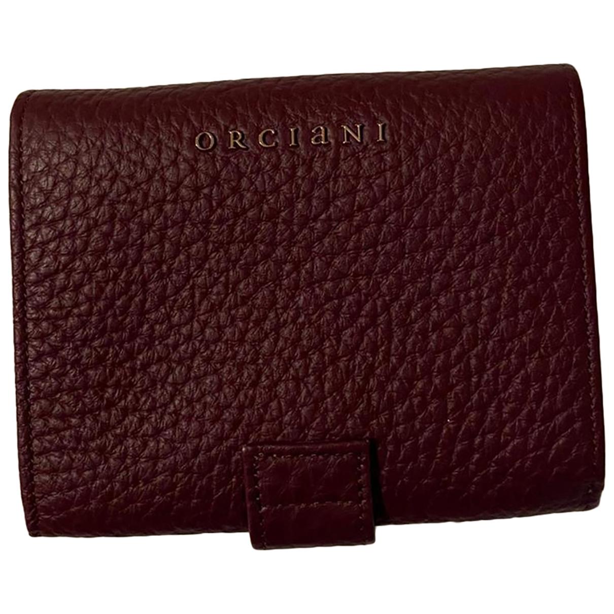 Orciani - Portefeuille   pour femme en cuir - bordeaux