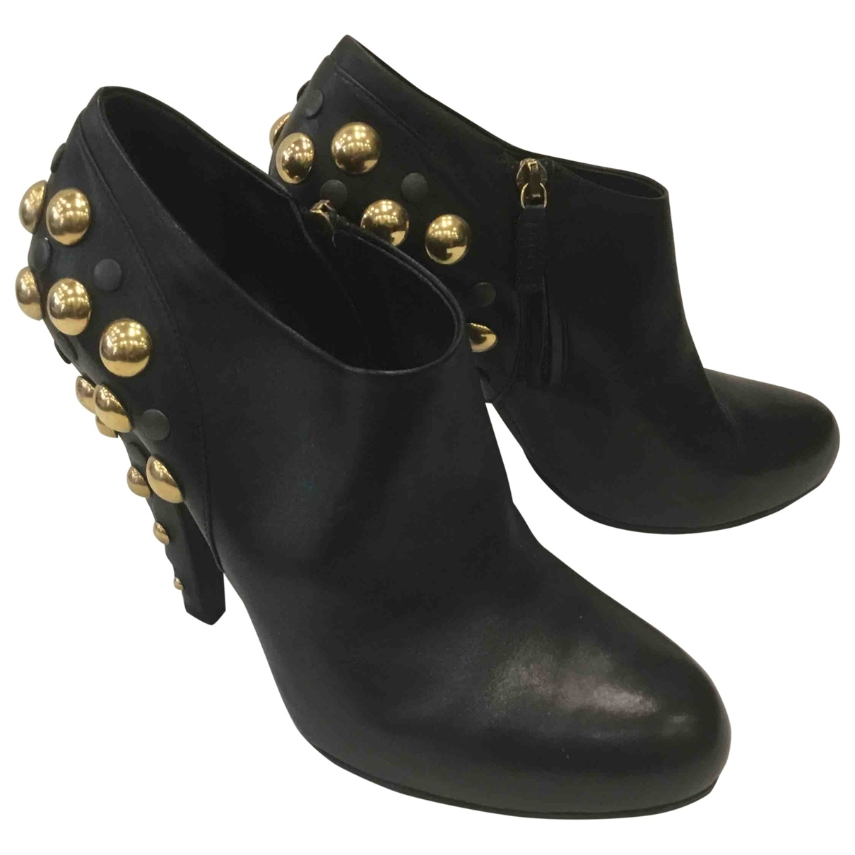 Gucci \N Black Leather Ankle boots for Women 40 IT