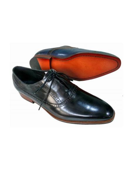 Mens Lace Up Leather Upper & Lining Black Shoe