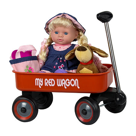 Kid Concepts Baby Doll With Wagon, One Size , No Color Family