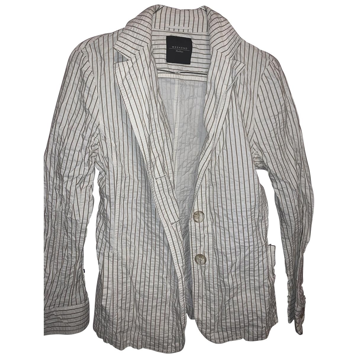 Max Mara Weekend \N White Cotton jacket for Women 10 US