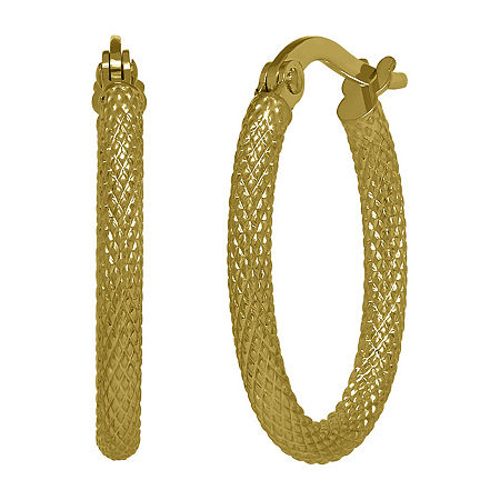 14K Gold Hoop Earrings, One Size , No Color Family