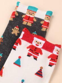 5pairs Christmas Pattern Socks
