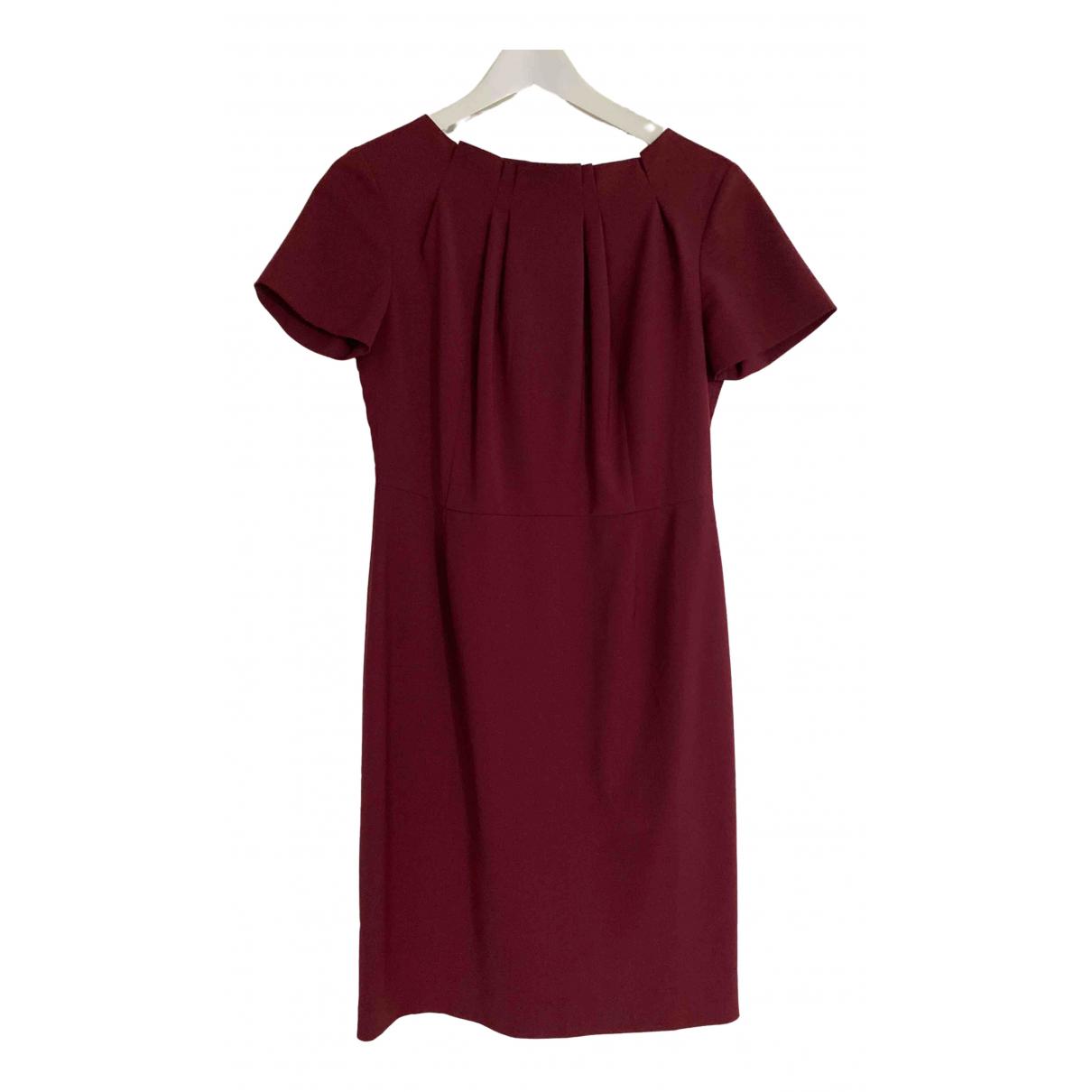 Sand \N Burgundy Wool dress for Women 38 FR