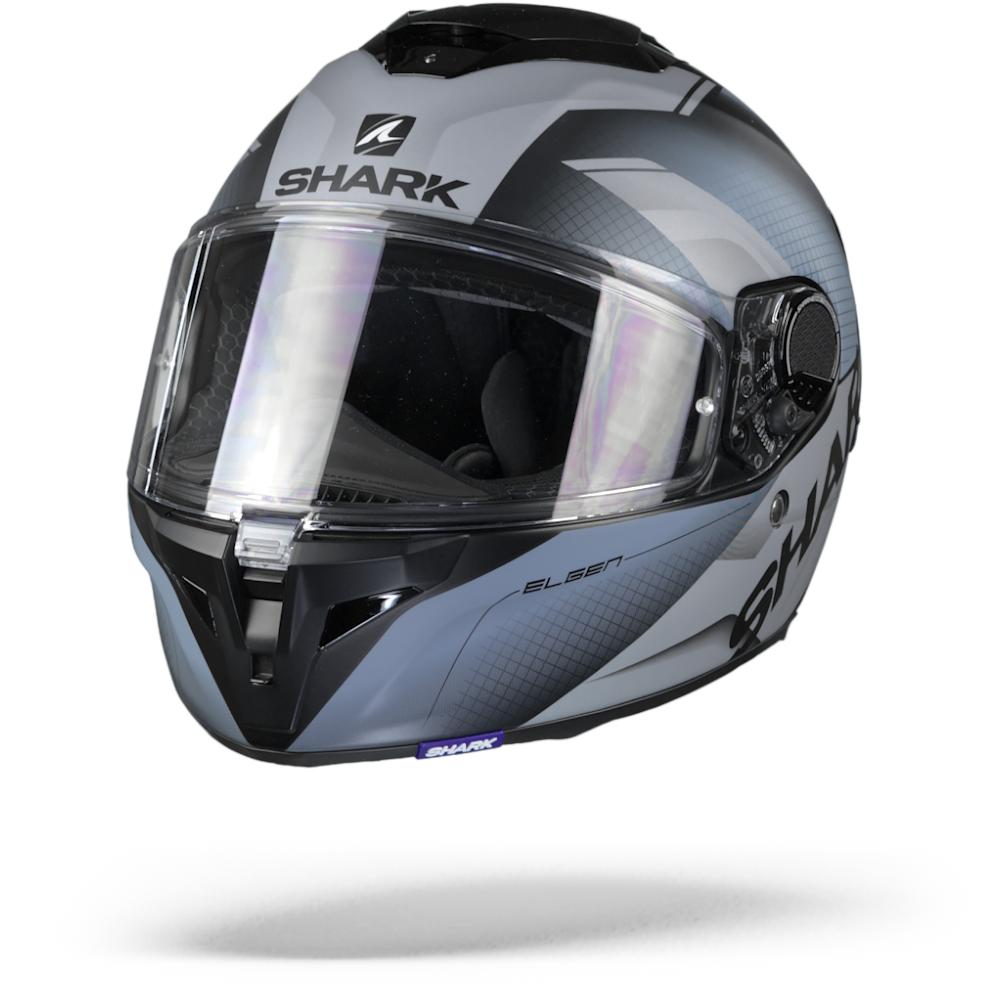 Shark Spartan GT Elgen Casco Integral Negro Mate Plateado 2XL