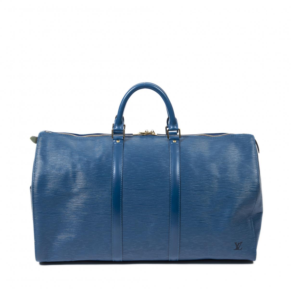 Louis Vuitton \N Reisetasche in  Blau Leder