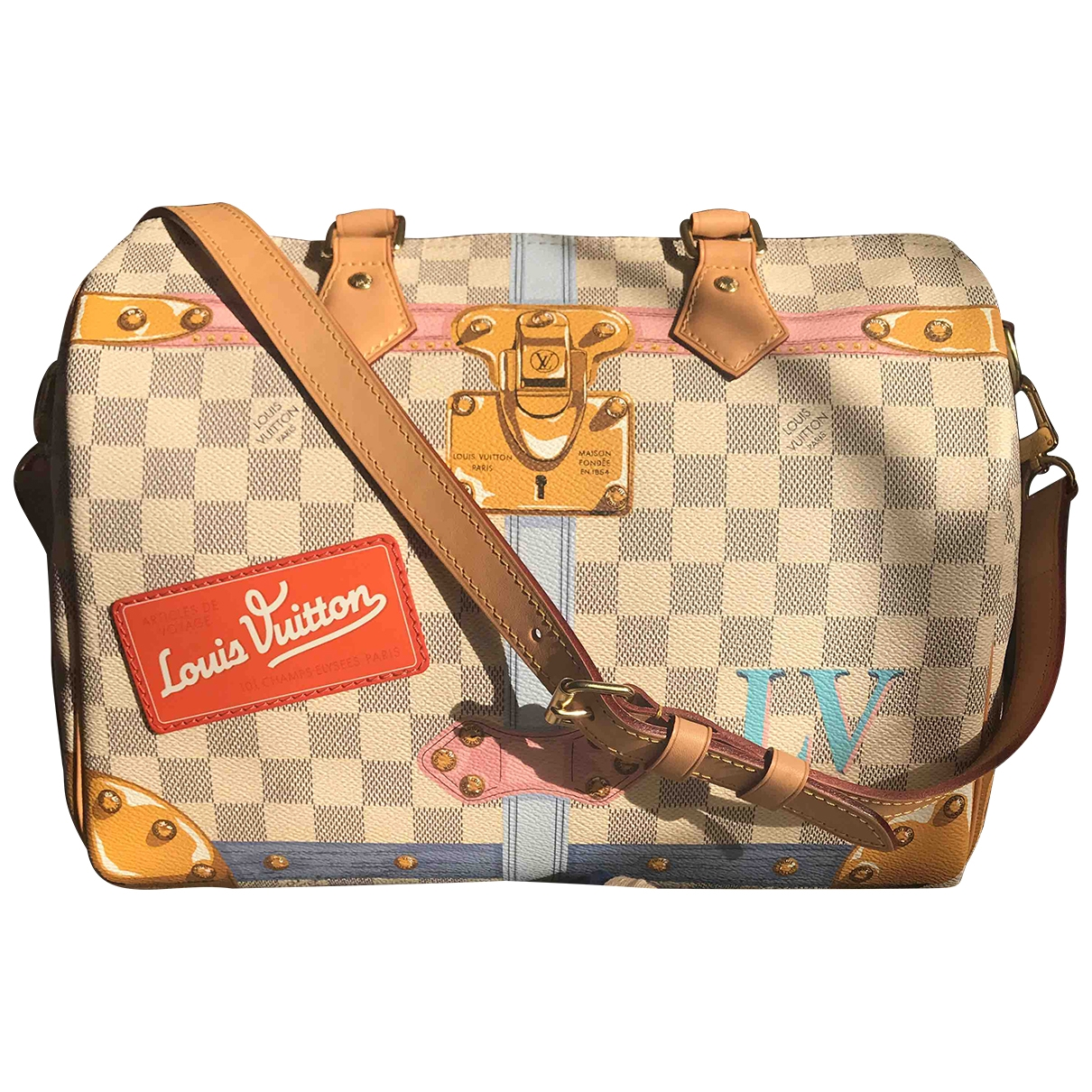 Louis Vuitton Speedy Bandoulière Multicolour Cloth handbag for Women \N