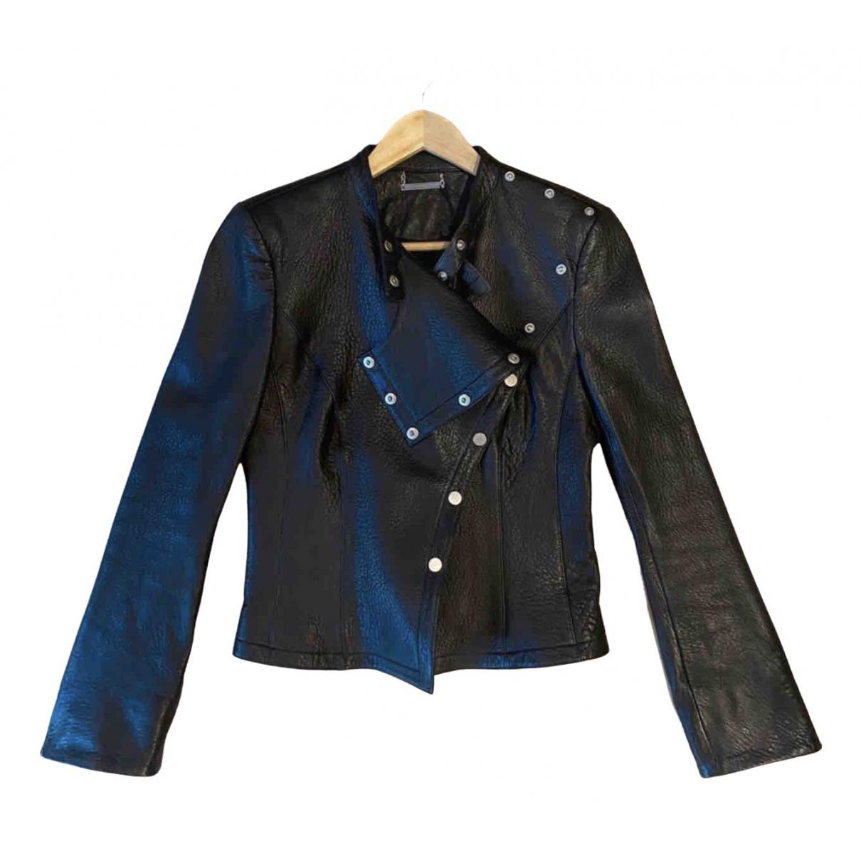 Diane Von Furstenberg - Blouson   pour femme en cuir - noir