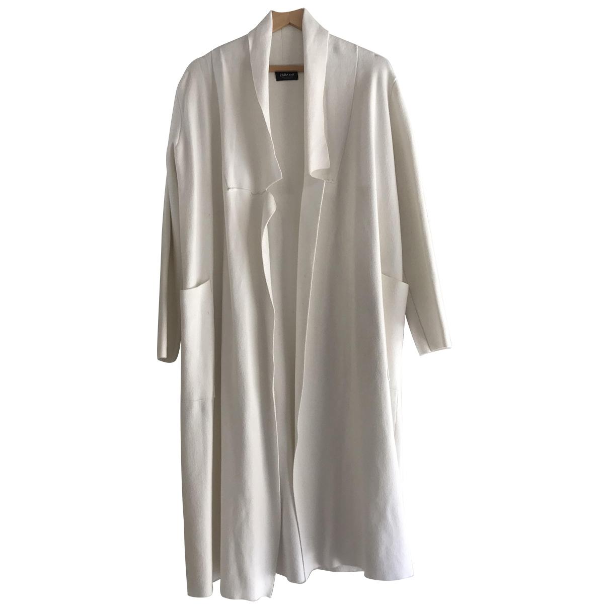 Zara \N White Cotton coat for Women M International