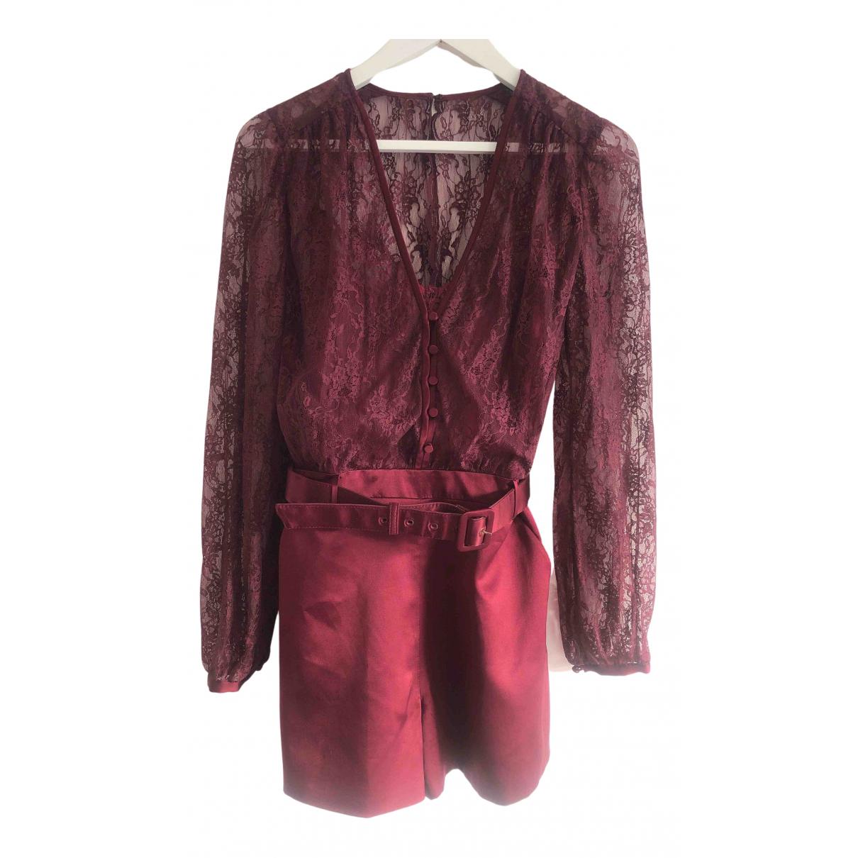 Jonathan Simkhai \N Kleid in  Bordeauxrot Polyester