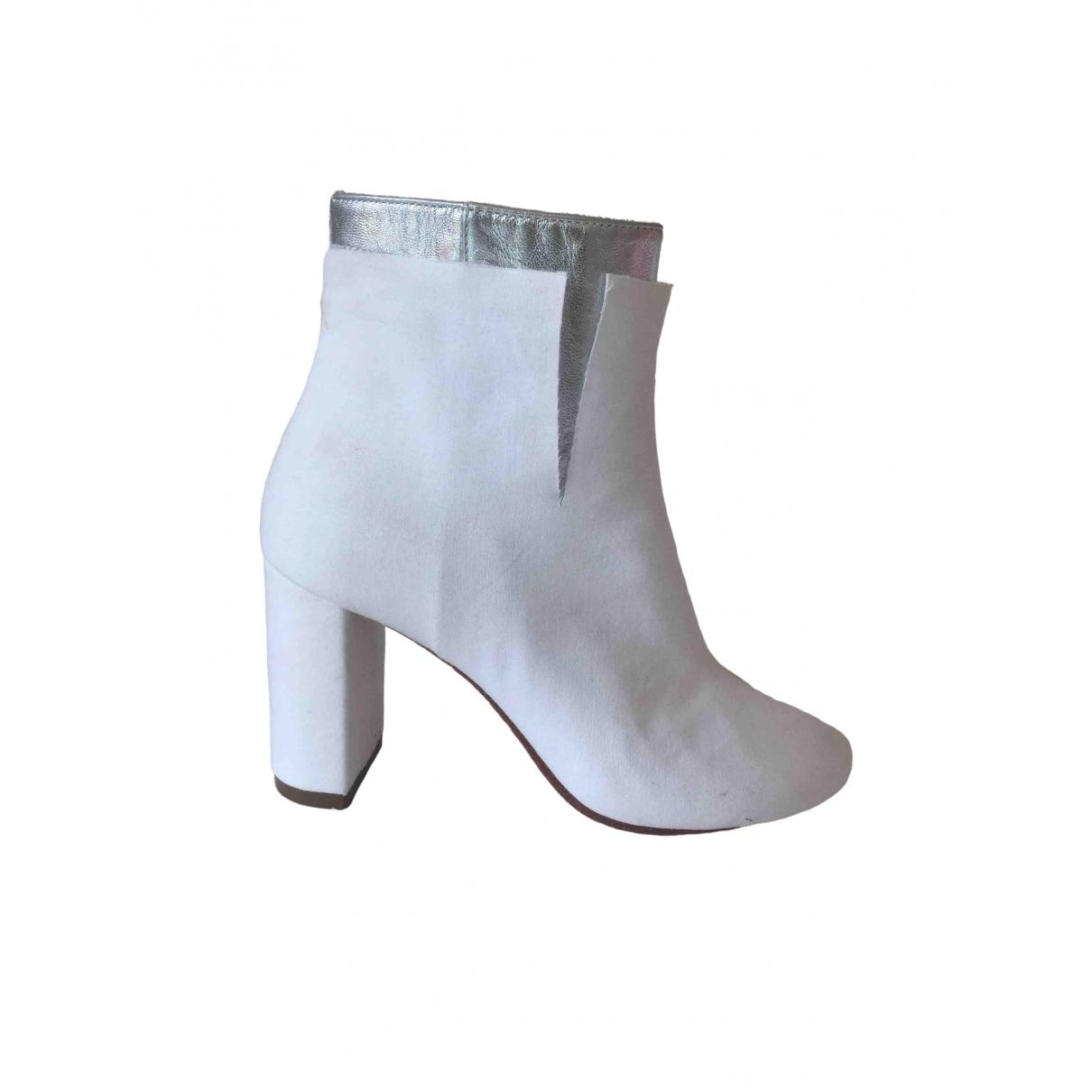 Mm6 - Boots   pour femme en cuir - blanc