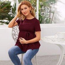 Maternidad top con cinturon