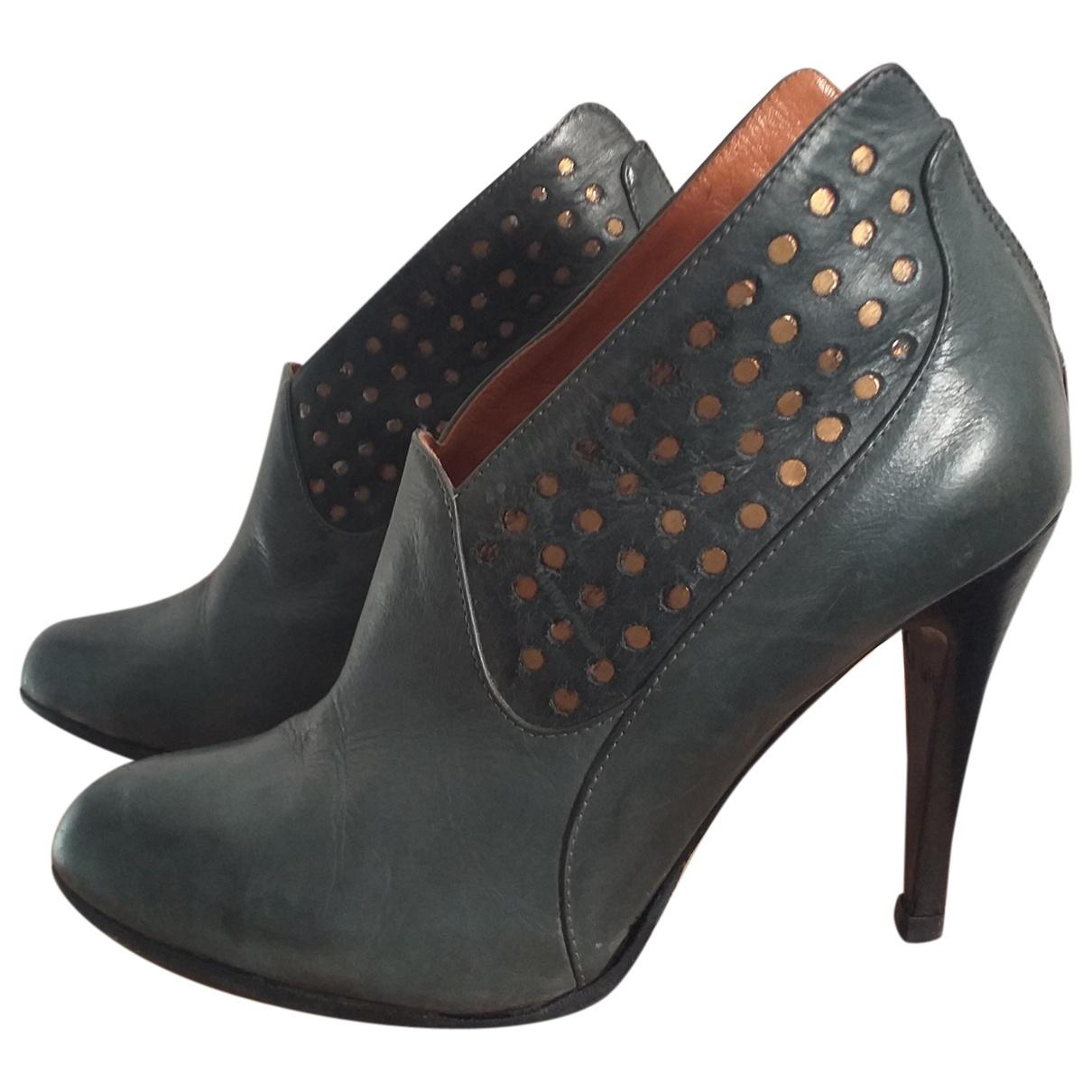 Golden Goose - Boots   pour femme en cuir - gris