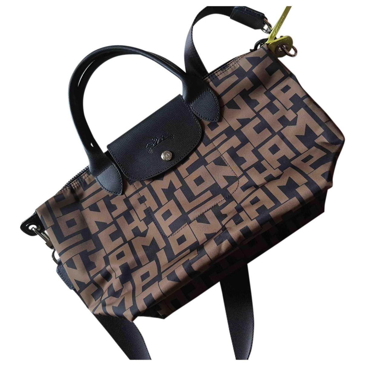 Longchamp - Sac a main   pour femme en toile - kaki