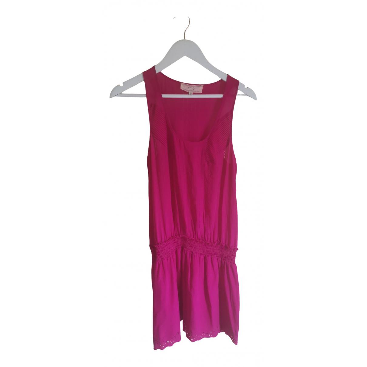 Vanessa Bruno Athe \N Kleid in  Rosa Seide