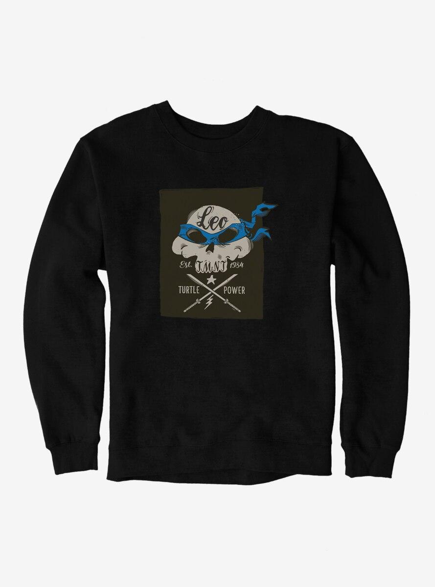 Teenage Mutant Ninja Turtles Leonardo Bandana Skull And Weapons Sweatshirt