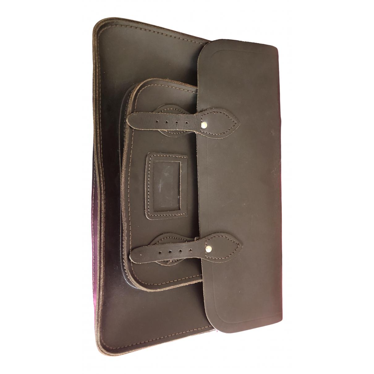 Leather Satchel Company \N Rucksaecke in  Braun Leder