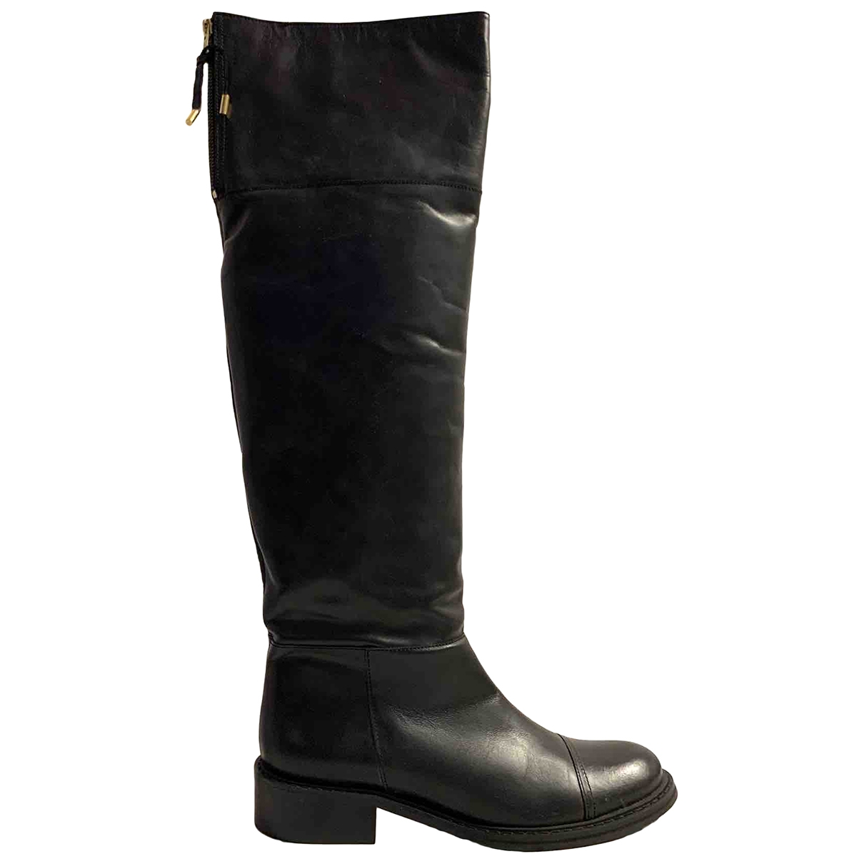Mellow Yellow \N Black Leather Boots for Women 39 EU