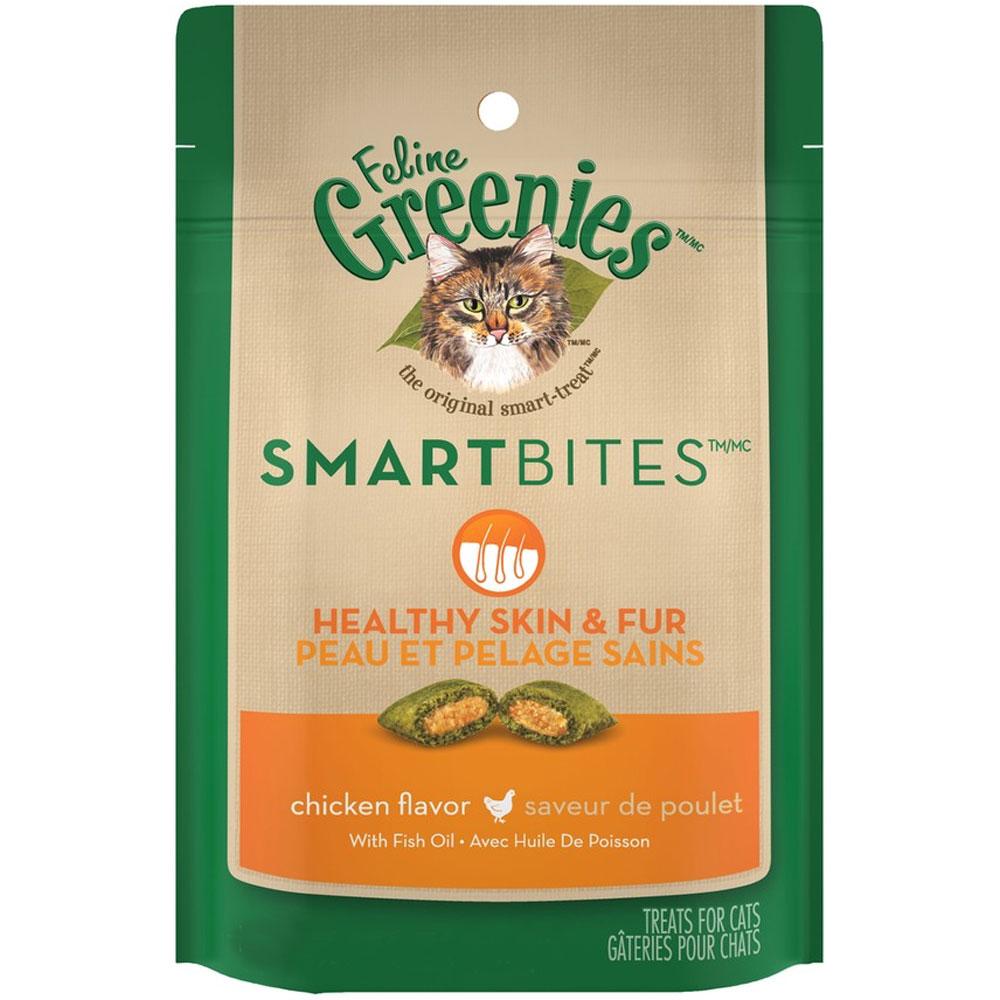 Feline Greenies Smartbites Skin & Fur Chicken (4.6 oz)
