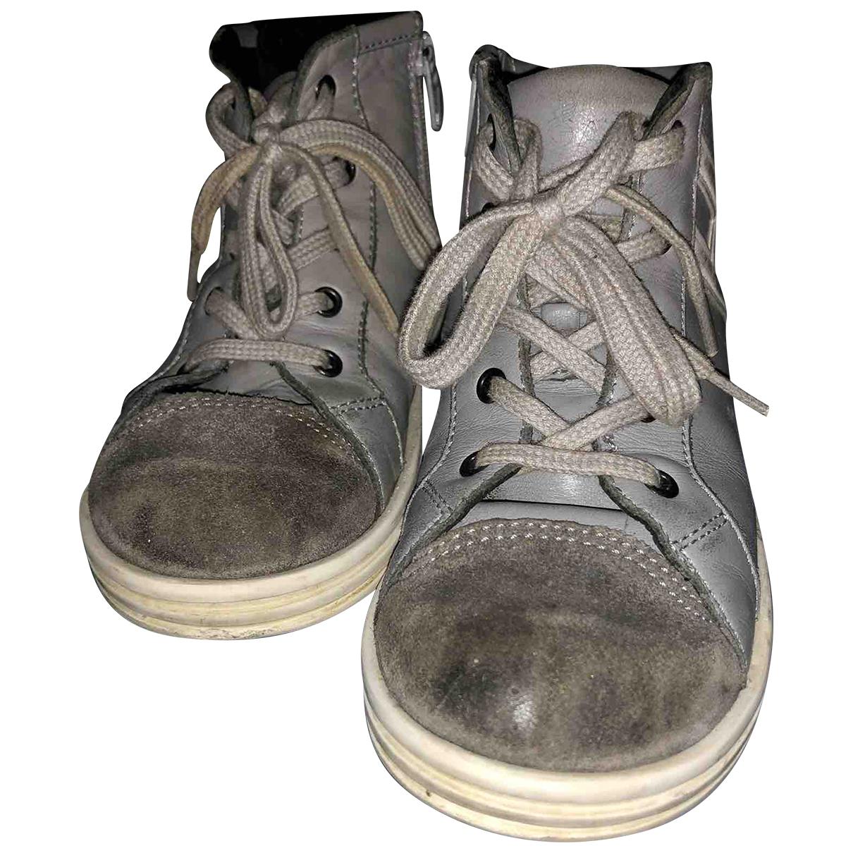 Hogan - A lacets   pour enfant en cuir - gris