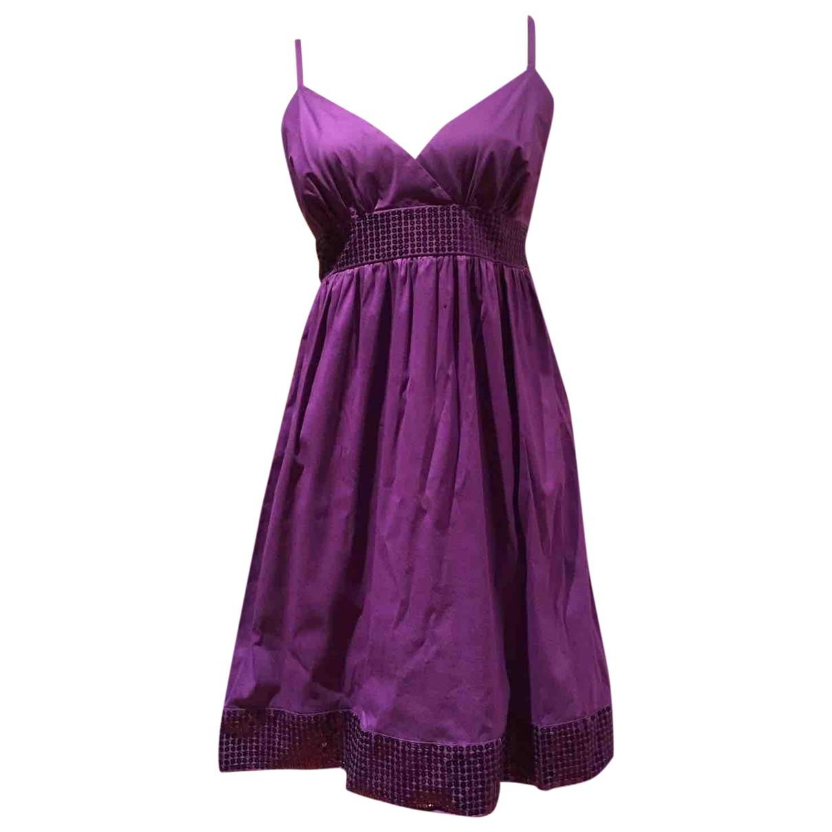 Flavio Castellani - Robe   pour femme en coton - violet