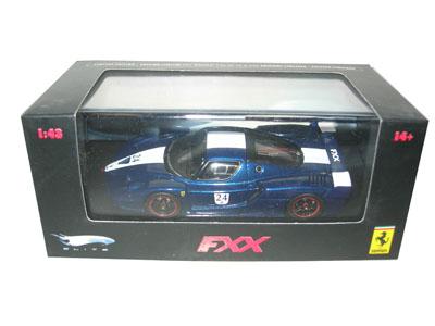 Ferrari Enzo FXX Elite Limited Edition Blue 24 1/43 Diecast Car Model by Hotwheels
