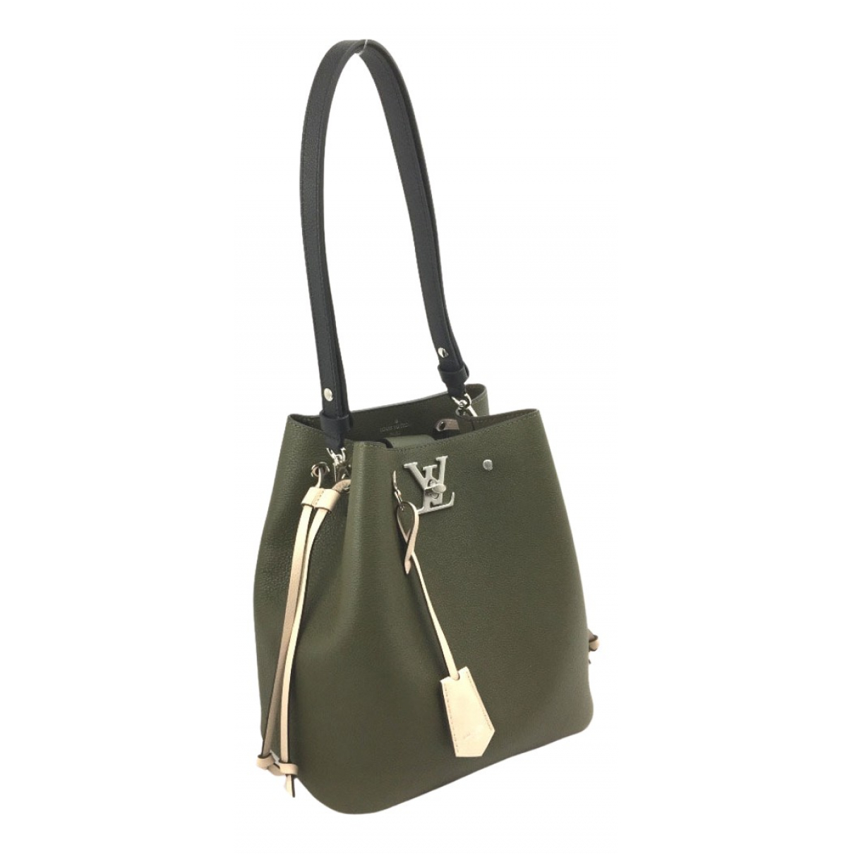 Louis Vuitton - Sac a main Lockme pour femme en cuir - vert