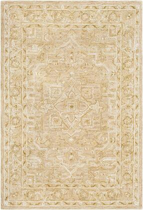 Shelby SBY-1005 7' x 9' Rectangle Traditional Rug in Olive  Dark Brown  Beige  Medium Gray