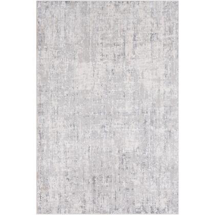 Aisha AIS-2305 12' x 15' Rectangle Modern Rug in Light Grey  Medium Grey