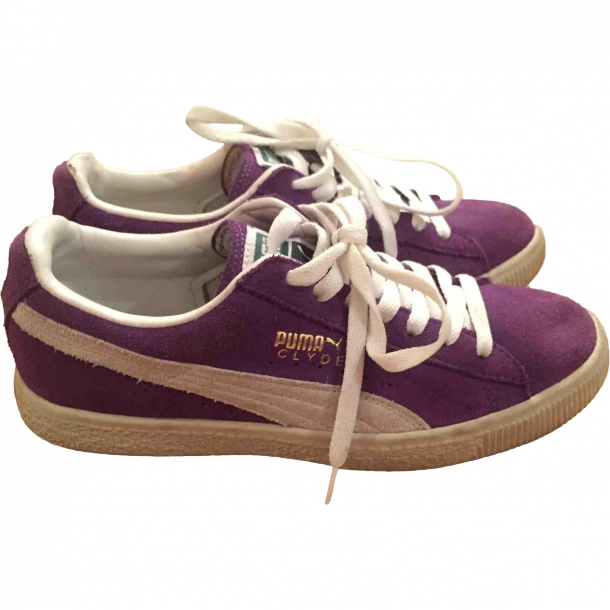 Puma \N Purple Suede Trainers for Women 37 EU