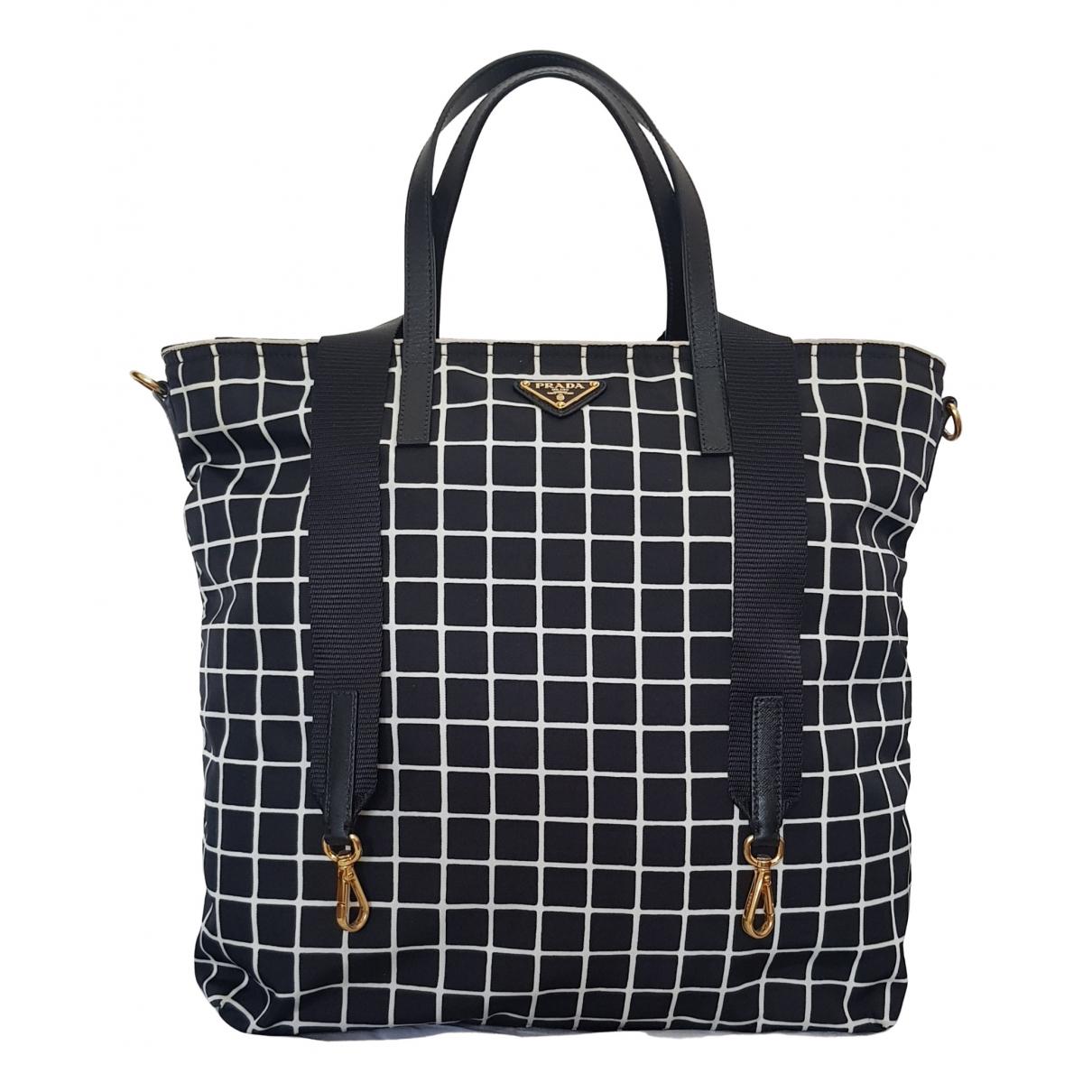 Prada \N Navy Cloth handbag for Women \N