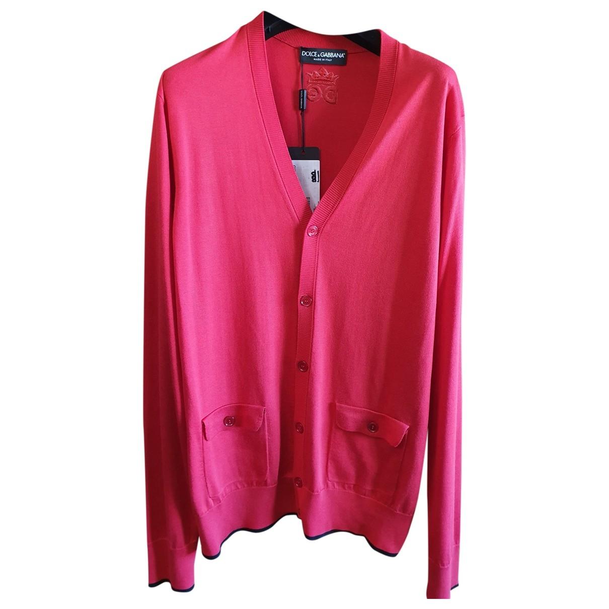 Dolce & Gabbana \N Pullover.Westen.Sweatshirts  in  Rot Seide