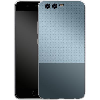 Huawei P10 Silikon Handyhuelle - Dot Grid Blue von caseable Designs