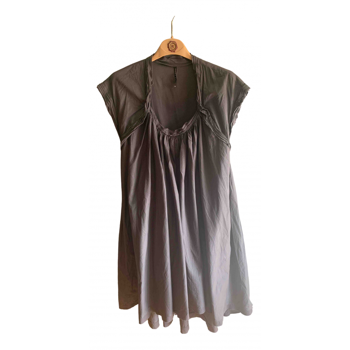 Liviana Conti \N Kleid in  Grau Baumwolle