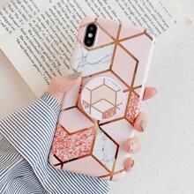 Geometric Print Foldable Phone Finger Ring