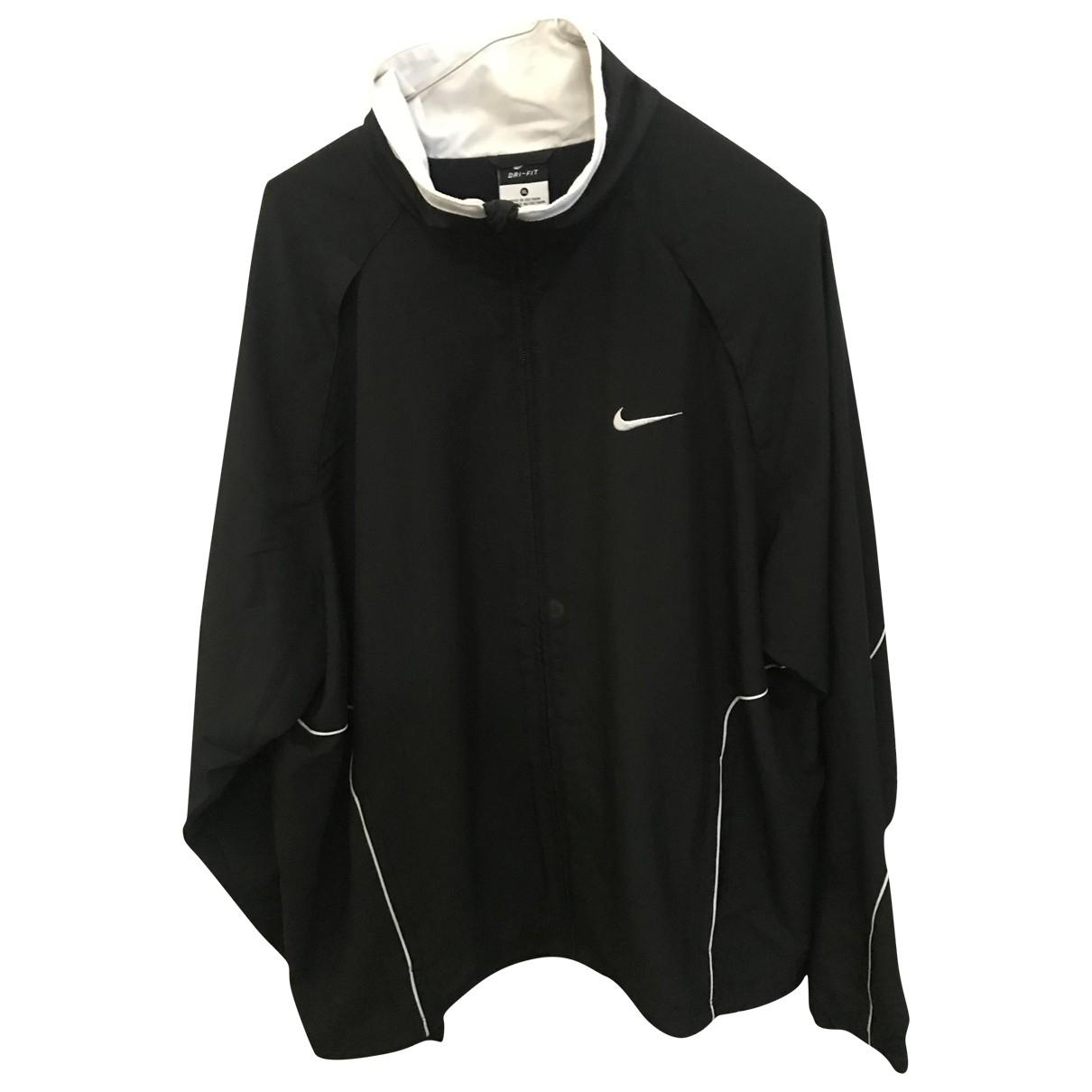 Nike \N Jacke in  Schwarz Synthetik