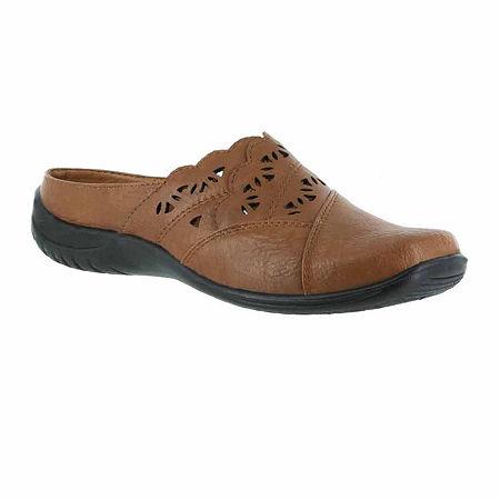 Easy Street Womens Forever Slip-On Shoe, 5 Medium, Beige