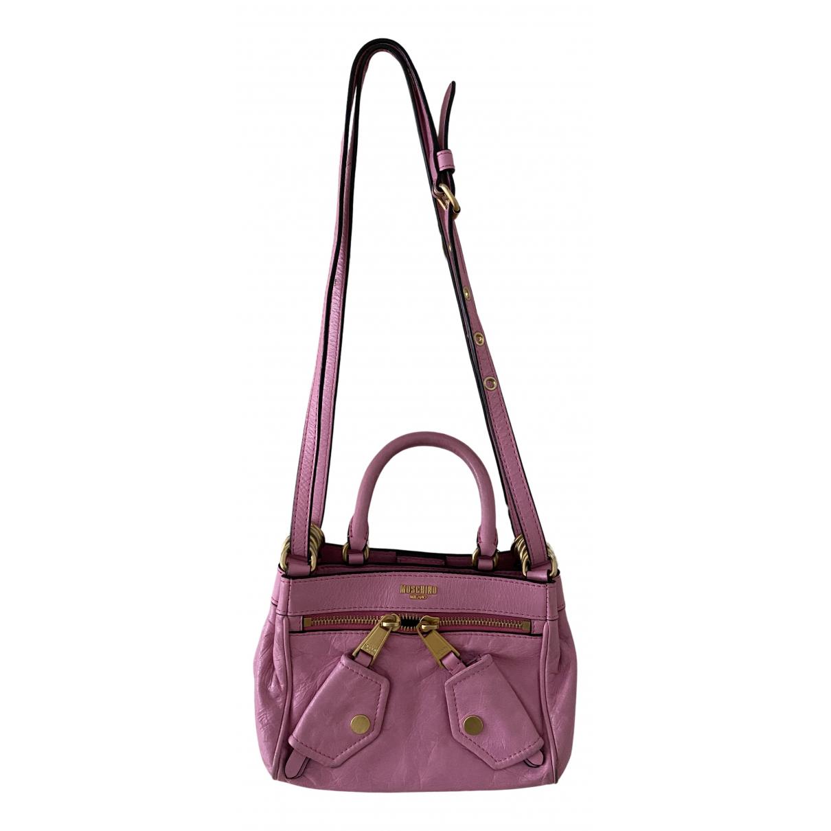 Moschino N Pink Leather handbag for Women N