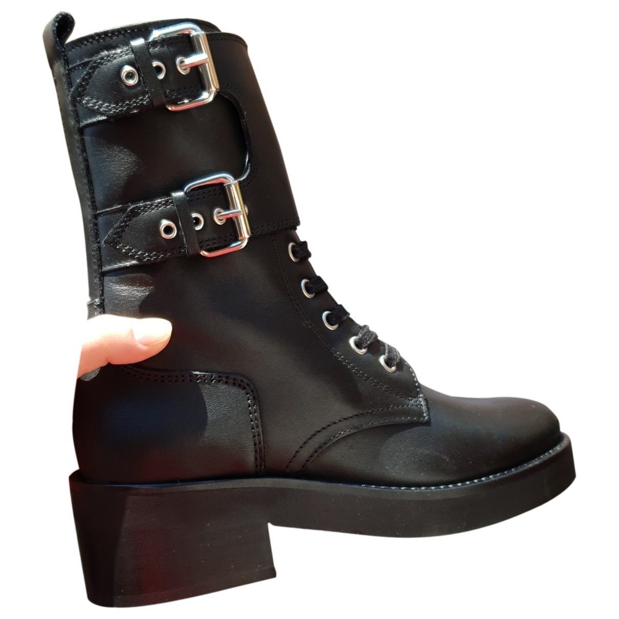 The Kooples - Bottes   pour femme en cuir - noir