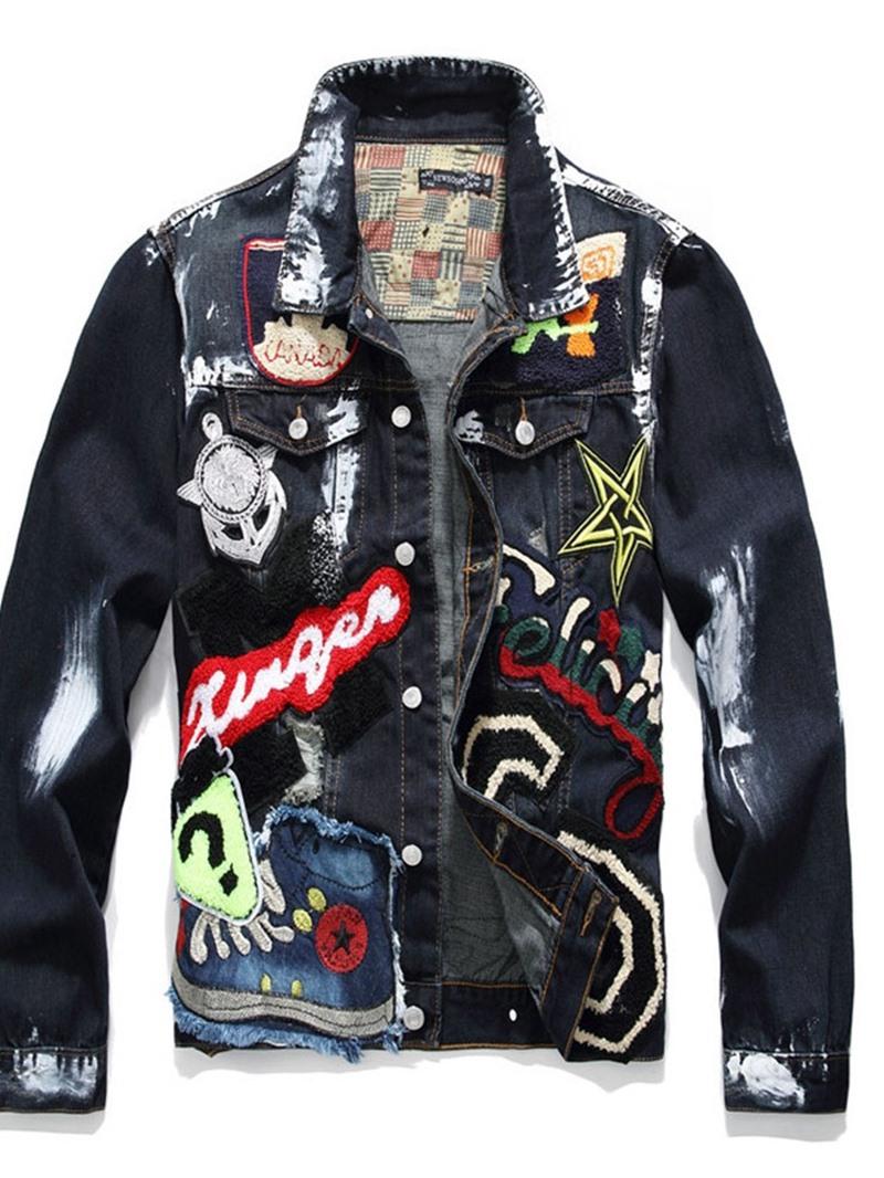 Ericdress Appliques Lapel European Style Men's Jacket
