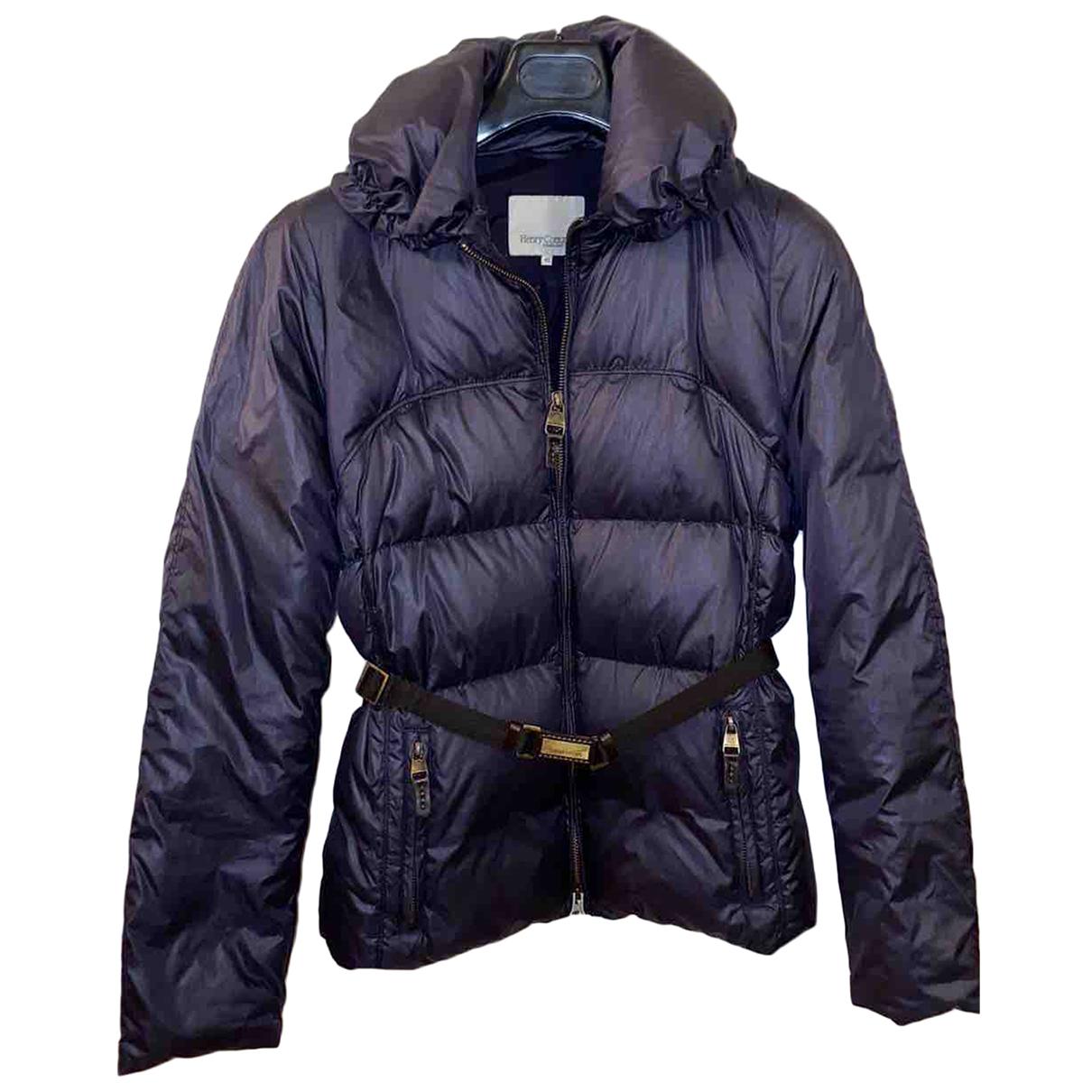 Henry Cotton N Blue coat for Women 42 IT