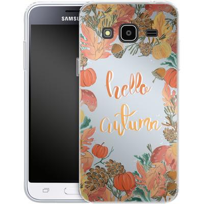 Samsung Galaxy J3 (2016) Silikon Handyhuelle - Hello Autumn von Mukta Lata Barua