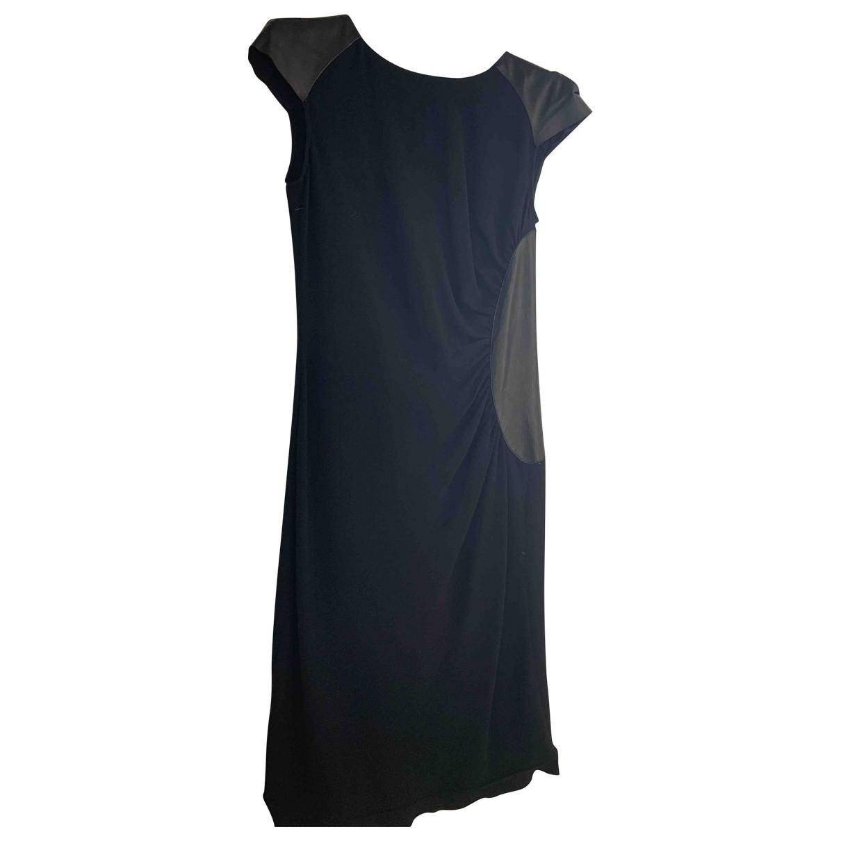 Trussardi \N Kleid in  Schwarz Viskose