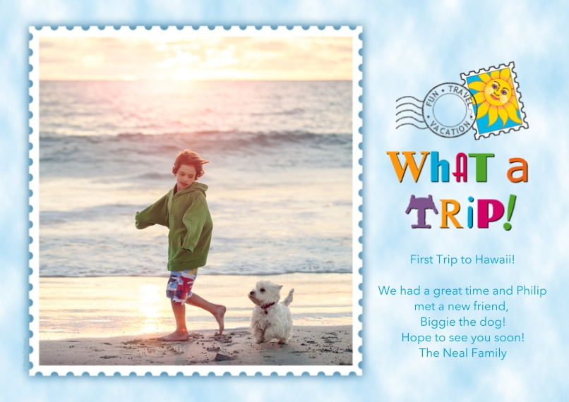 Just Because Flat Matte Photo Paper Cards with Envelopes, 5x7, Card & Stationery -What a Trip!