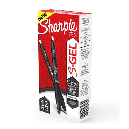 Sharpie® S-Gel Stylo à encre gel rétractable, 12 unités
