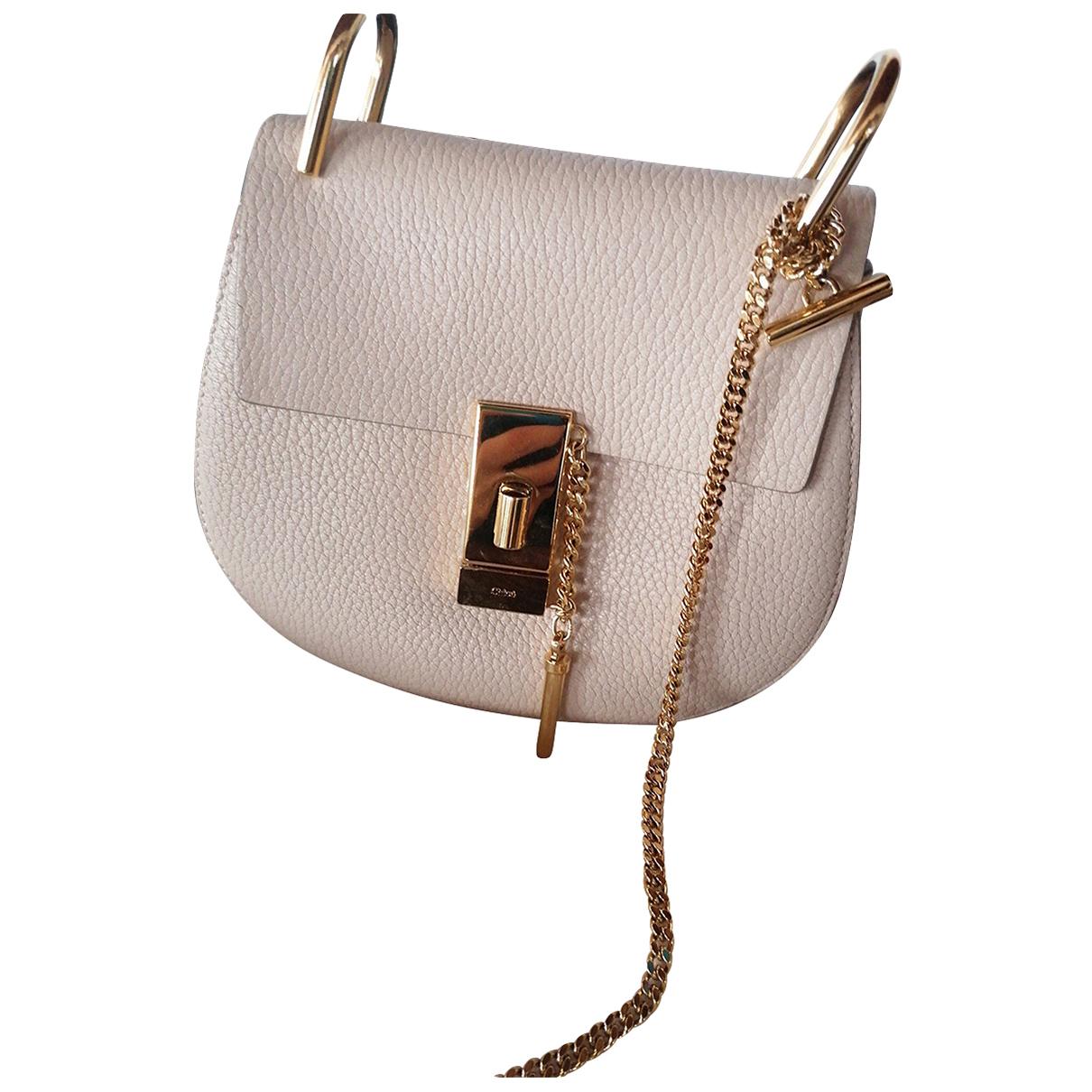 Chloé Drew Beige Leather handbag for Women \N