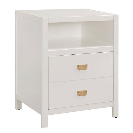Peggy 2-Drawer Coffee Table, One Size , White