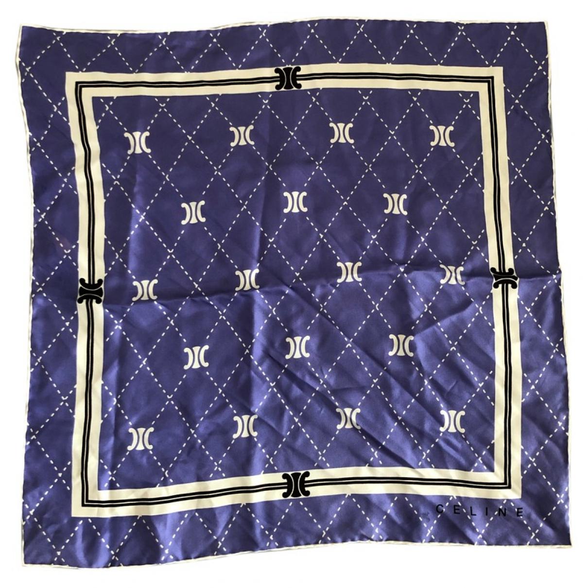 Celine \N Purple Silk Silk handkerchief for Women \N