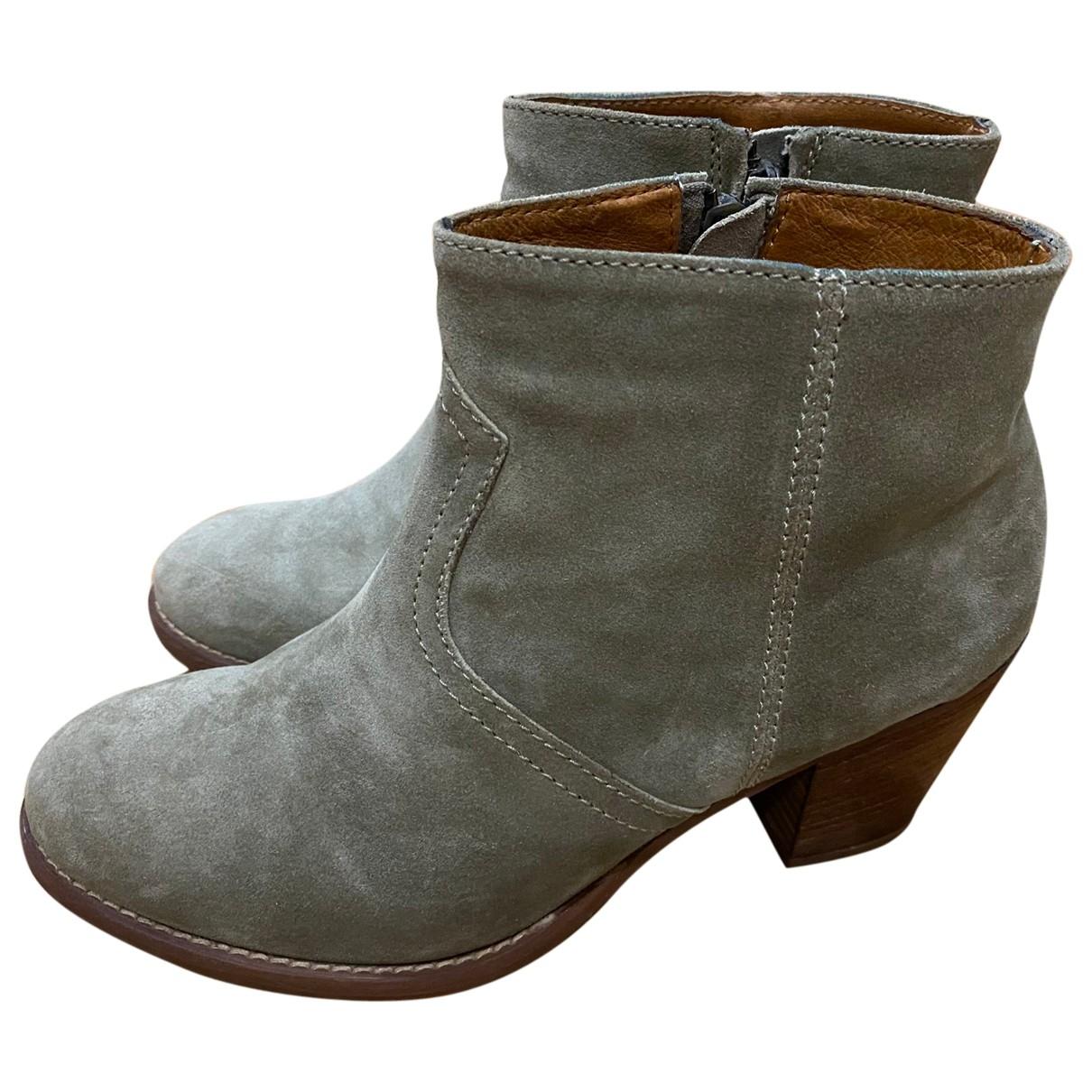 Madewell - Boots   pour femme en suede - kaki