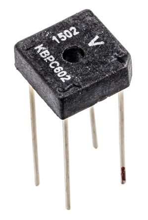 Vishay VS-KBPC602, Bridge Rectifier, 6A 200V, 4-Pin D 72